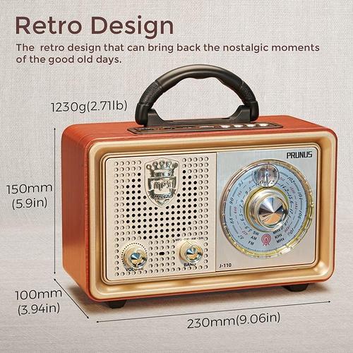 PRUNUS-M-110BT-Vintage-radio-FM-AM-radio-r-cepteur-Bluetooth-MP3