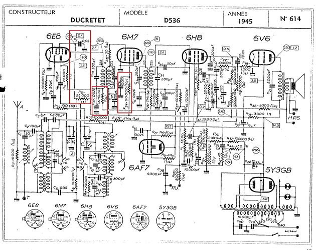 Ducretet D536 point a contrôler