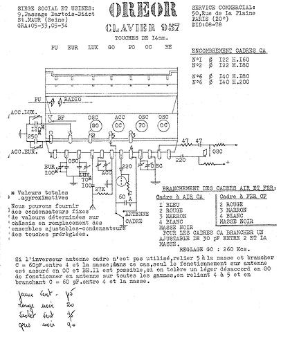 Oreor clavier 957