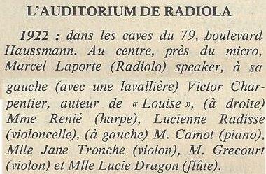 légende studio Radiola